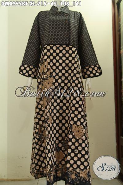 Model Baju Batik Elegan Mewah Gamis Batik Motif Klasik Kombinasi