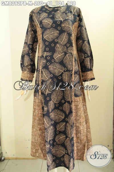 Model Baju Batik Gamis Istimewa Pakai Kancing Depan Busana Batik