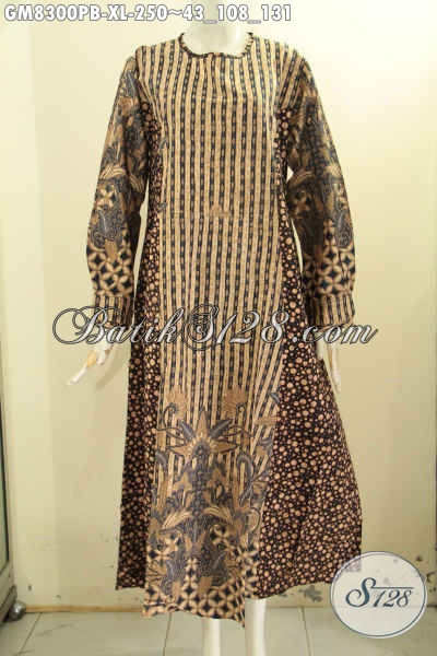 Baju Batik Gamis Wanita Dewasa Pakaian Batik Musli Wanita 2 Model A