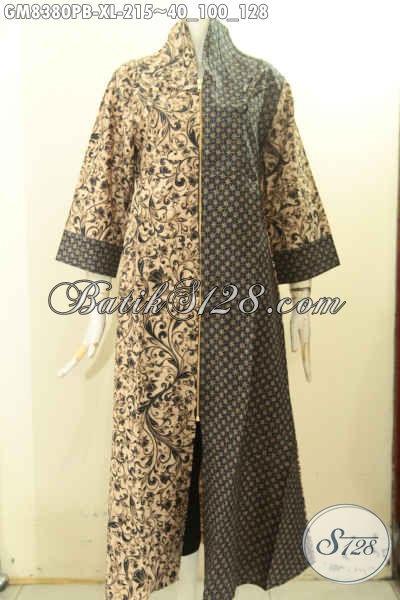 Gamis Batik Size XL, Abaya Batik Wanita Dewasa Untuk Tampil Gaya Dan Berkelas, Produk Long Dress Batik Elegan Mewah Hanya 215K