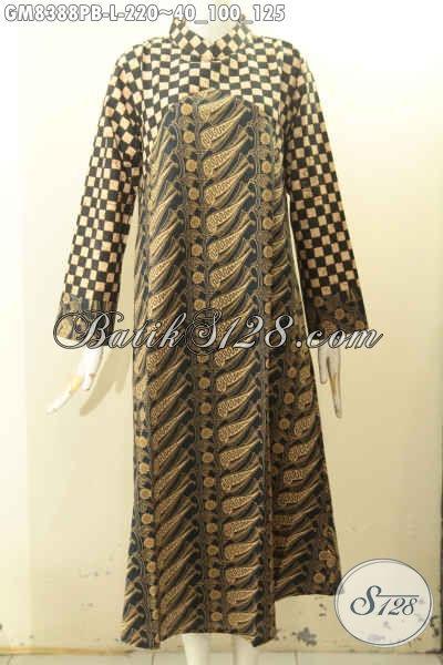 Gamis Batik Size L Buatan Soo Asli, Produk Abaya Batik Dual Warna Dengan Motif Klasik Nan ELegan, Pilihan Tepat Untuk Tampil Gaya Dan Menawan