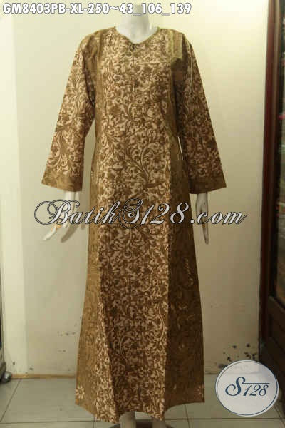 Produk Baju Batik Gamis Nan Istimewa, Busana Batik Gamis Solo Terbaru, Pakaian Gamis Batik Jawa Tengah Nan Mewah, Menunjang Penampilan Lebih Mempesona, Size XL