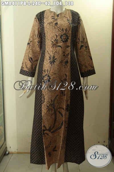 Jual Online Gamis Batik Size L Hadir Dengan Motif Klasik Dengan