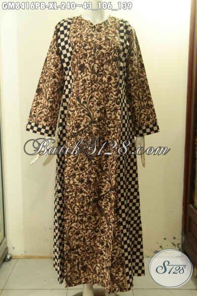 Gamis Batik Variasi 2 Warna Produk Busana Wanita Panjang Nan Elegan