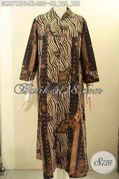 Batik Gamis Bagus Desain Terbaru Kwalitas Bahan Istimewa Yang Nyaman Di Pakai, Abaya Batik Kancing Depan Untuk Wanita Dewasa Tampil Anggun Dan Elegan