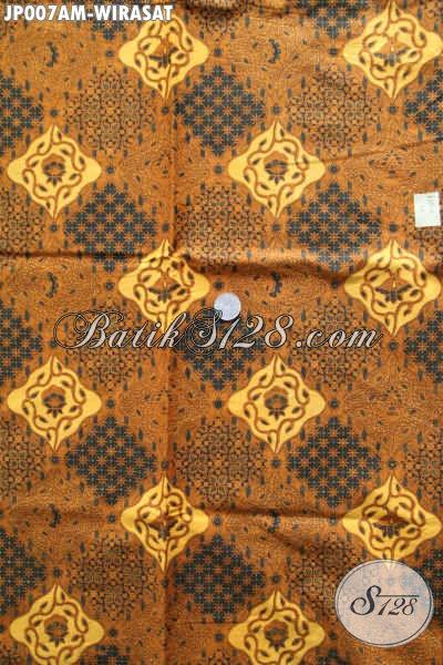 Batik Kain Motif Klasik, Batik Bahan Jarikk Motif Wirasat Kwalitas Bagus Proses Printing Hanya 60 Ribuan [JP007AM-240x105cm]