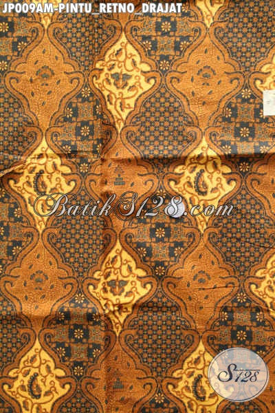 Kain Batik Jawa Tengah Halus Proses Printing, Batik Klasik Motif Pintu Retno Drajad Harga 60K Cocok Buat Jarik Dan Pakaian Formal