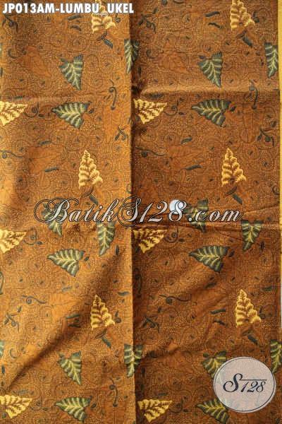 Kain Batik Solo Motif Lumbu Ukel, Batik Klasik Kombinasi Tulis Pas Untuk Jarik [JP013AM-240x105cm]