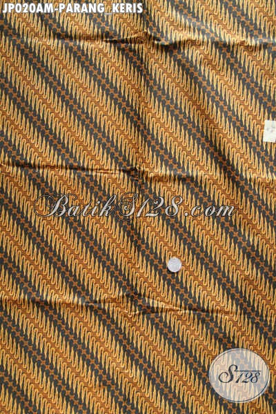 Batik Kain Parang Keris, Batik Klasik Jarik Printing Buatan Solo Asli Tampil Elegan Berwibawa [JP020AM-240x105cm]