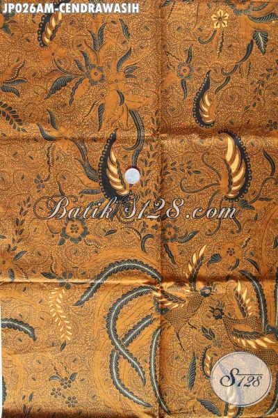Batik Klasik Elegan Bahan Jarik, Kain Batik Halus Motif Cendrawasih Nan Istimewa Buatan Solo Proses Printing Harga 60K [JP026AM-240x105cm]
