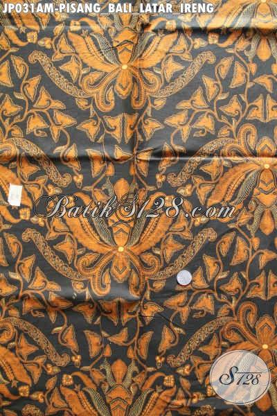 Batik Kain Untuk Jarik, Batik Lawasan Proses Printing Motif Pisang Bali Latar Ireng Kwalitas Istimewa hanya 60 Ribu Saja [JP031AM-240x105cm]