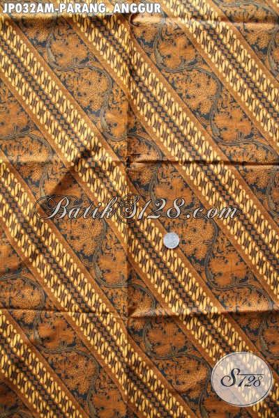 Kain Batik Parang Anggur, Batik Halus Bahan Jarik Istimewa Proses Printing Di Jual Online 60K [JP032AM-240x105cm]