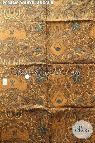 Kain Batik Klasik Bahan Jarik, Batik Printing Motif Wahyu Anggur Kwalitas Istimewa Dengan Harga Biasa [JP038AM-240x105cm]