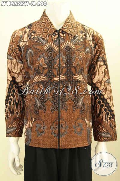 Koleksi Terbaru Jaket Batik Pria Model Jas, Bahan Halus Dengan Furing Berkualitas Sehingga Tidak Panas Serta Nyaman Di Pakai Harga 230K [JT10228BTF-M]