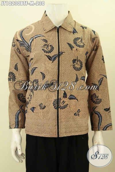 Trend Baru Jaket Batik Solo, Produk Jaket Istimewa Lengan Panjang Motif Klasik Kombinasi Tulis Untuk Penampilan Lebih Gagah, Size M
