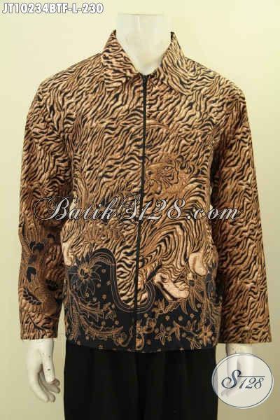 Olshop Produk Batik Paling Up To Date, Sedia Jaket Batik Model Jas Istimewa, Bahan Halus Dan Adem Daleman Full Furing Motif Klasik Kombinasi Tulis Hanya 200 Ribuan [JT10234BTF-L]
