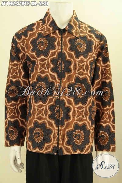 Toko Online Batik Sedia Jaket Batik Lengan Panjang Istimewa Bahan Halus Motif Klasik Full Furing Harga 230K, Size XL