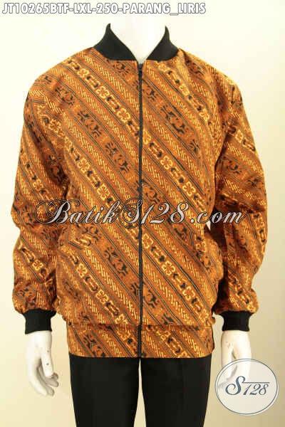 Produk Terkini Jaket Bomber Batik Keren Bahan Halus, Batik Jaket Kekinian Yang Bikin Penampilan Lebih Gaya [JT10265BTF-L]