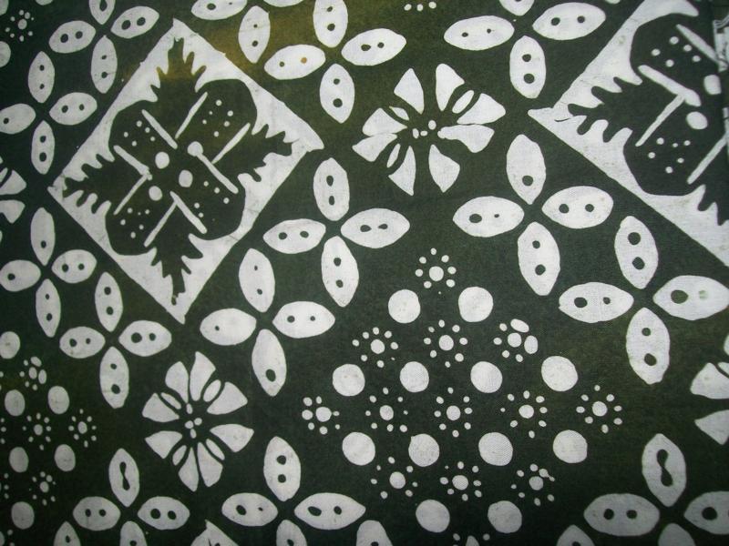 Kain Batik Solo Murah Motif Kombinasi Kawung Warna Hijau  Toko