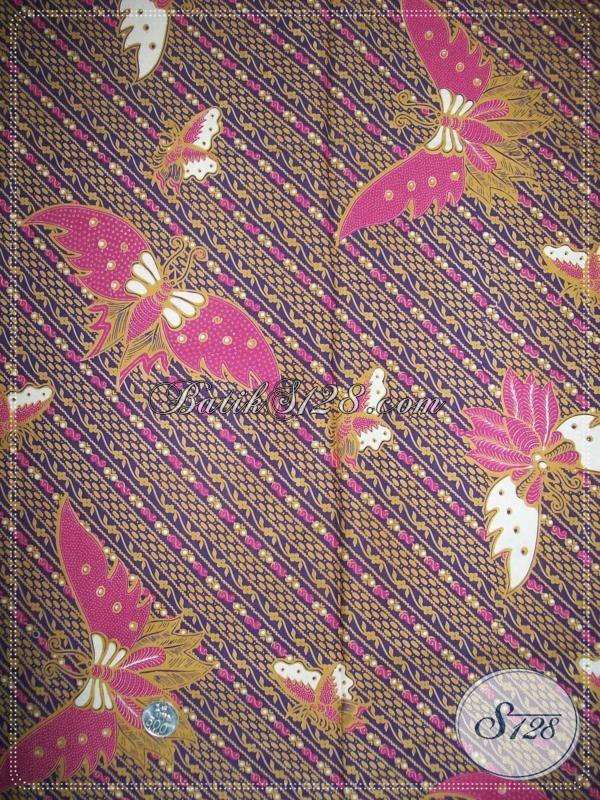 Kain Batik Motif Kupu Warna Elegan [K1009P]