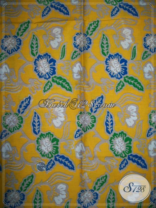 Kain Batik Motif Floral Untuk Busana Batik Kerja Wanita Kantor [K1016P]