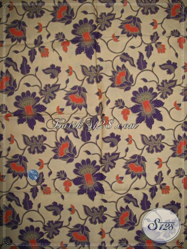 Batik Bunga Ungu,Batik Elegan Untuk Busana Hijabers [K1019P]
