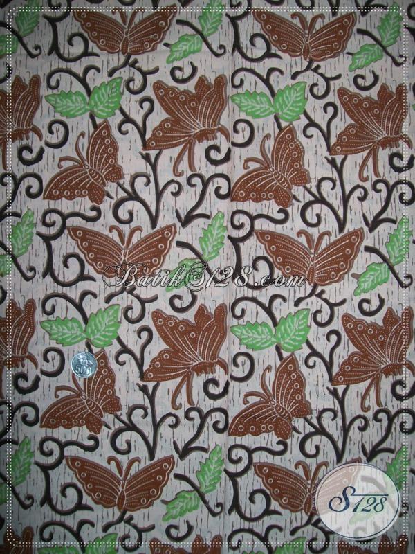 Kain Batik Kupu Warna Coklat Bahan Batik Untuk Baju Trendy