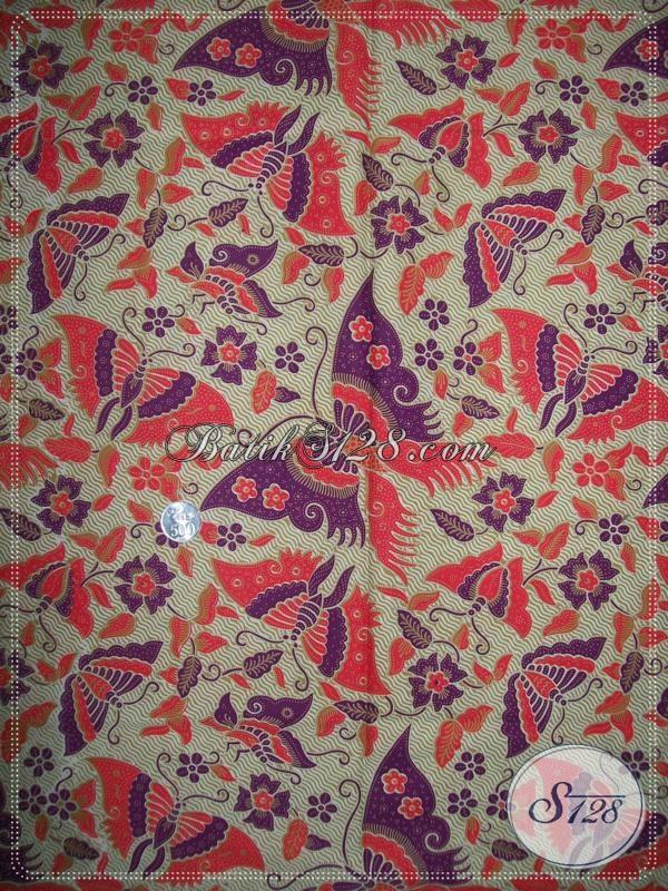 Batik Motif Kupu Elegan Dan Modern [K1025P]