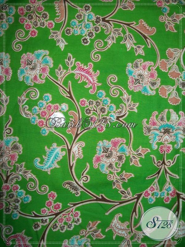 Kain Batik Motif Batik Solo,Bahan Batik Untuk Seragam BAju Wanita Trendy [K1033P]