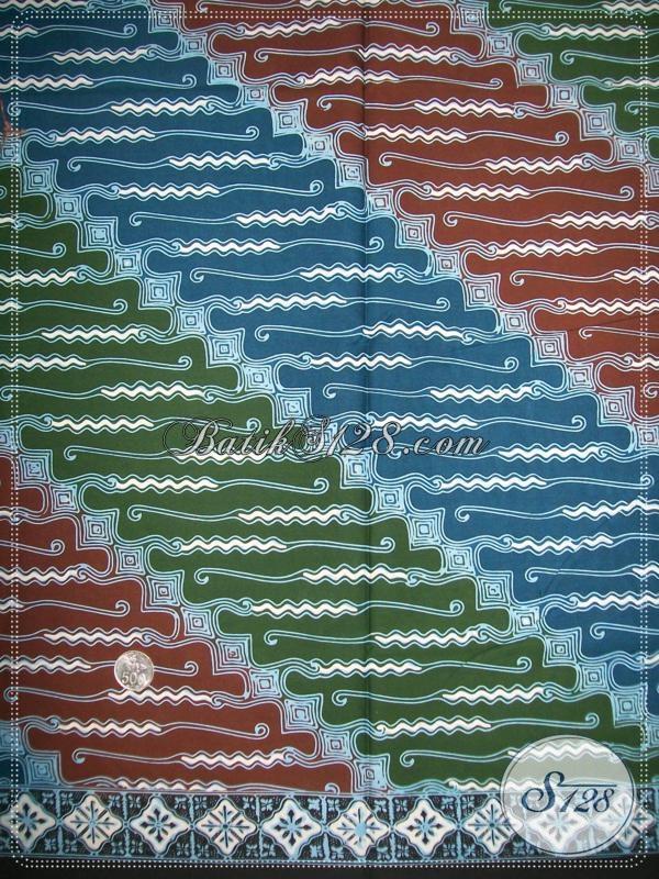 Jual Kain Batik Solo Warna Unik Motif Parang Keren, Batik Bahan Busana Pria Dan Wanita Karir