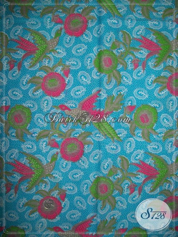 Kain Batik Warna Biru Cerah,Batik Trendy Untuk Wanita Modern [K1065P]