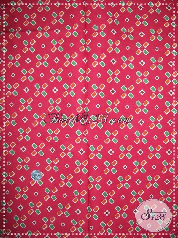 Batik Warna Merah Motif Jumputan [K1070P]