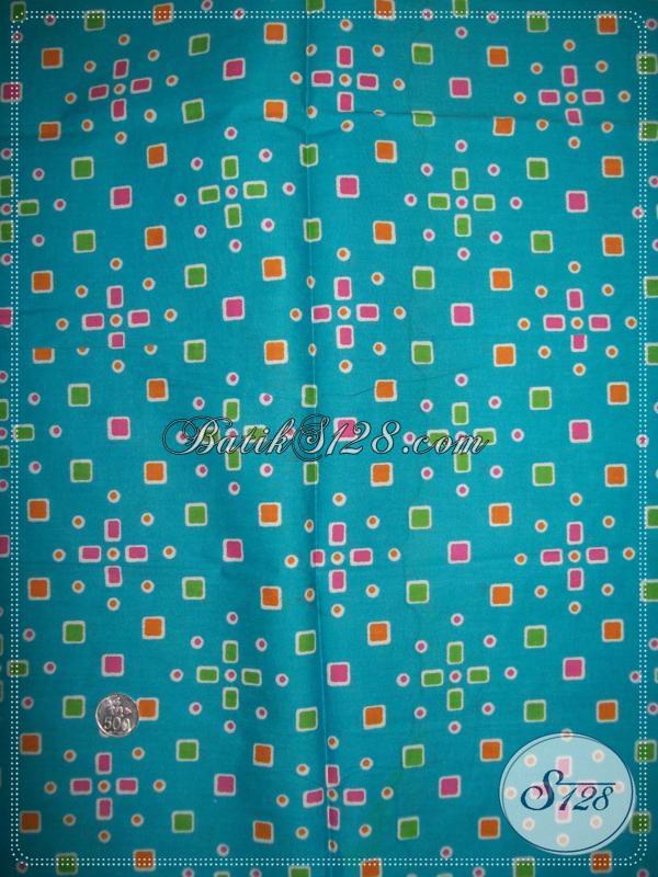 Batik Warna Biru Motif Jumputan,Toko Batik Printing Motif Jumputan [K1071P]