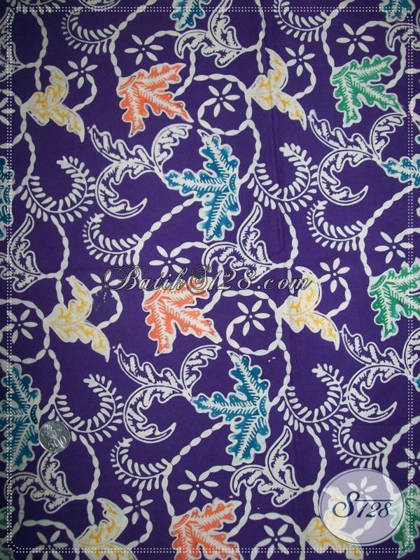 Kain Batik Warna Ungu Cocok Untuk Wanita Yang Elegan  [K1114C]