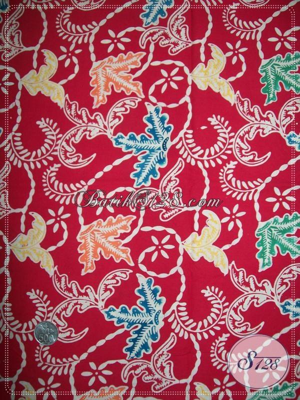 Kain Batik Warna Merah Elegan Untuk Perayaan Imlek K1115C  Toko