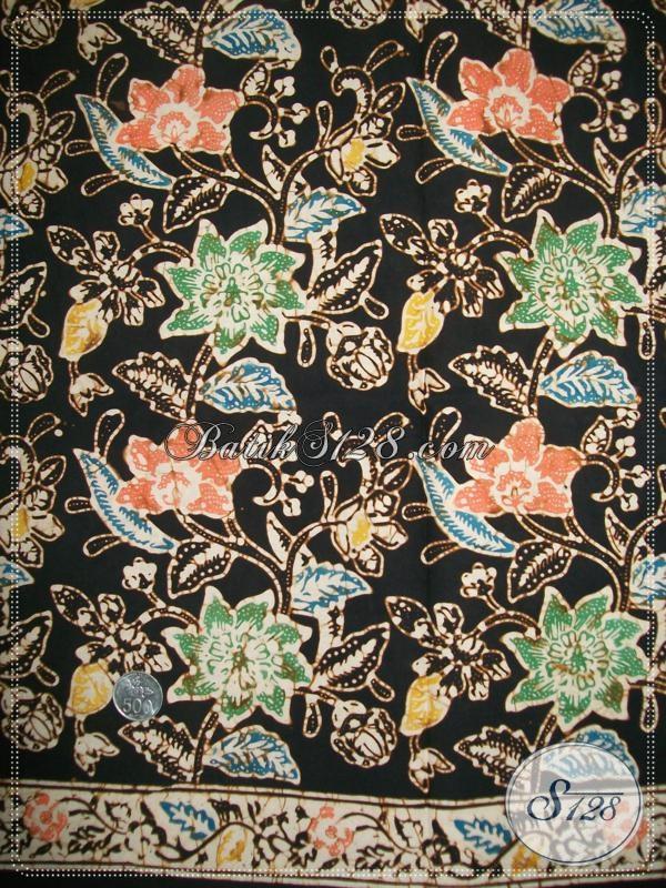 Kain Batik Klasik Modern Motif Bunga Untuk Pakain Resmi Pria Muda Dan Dewasa