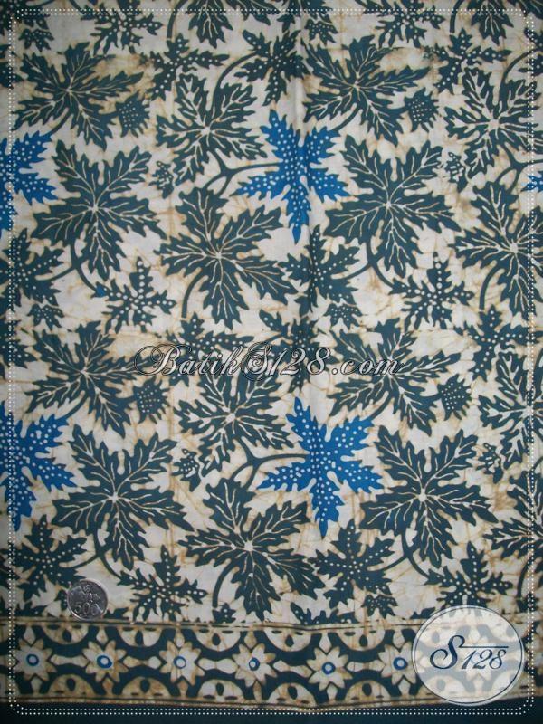 Kain Batik Warna Alam Motif Daun Pepaya [K1138CA]