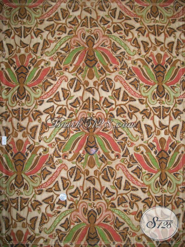 Toko Kain Batik Motif Pisang Bali,KAin Batik Warna Elegan Dan Modern Asli BAtik Solo [K1165BT]