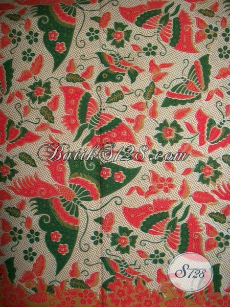 Kain Batik Batik Bagus Halus Harga Murah, Batik Motif Kupu Bahan Dress Wanita Kantoran
