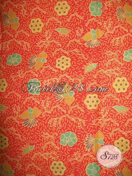Batik Unik Motif Burung Cuwiri,Kain Batik Motif Burung Untuk Seragam Kantor [K1251P]
