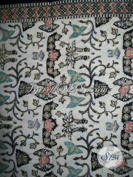 Kain Batik Halus Asli Solo Bahan Baju Pakaian Wanita Pria, Batik Motif Wahyu Tumurun Klasik Modern Harga Terjangkau