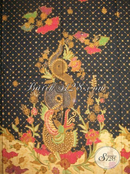 Jual Batik Naga Online, Batik Tulis Asli Solo, Motif Ular Warna Hitam [K1303TGP]
