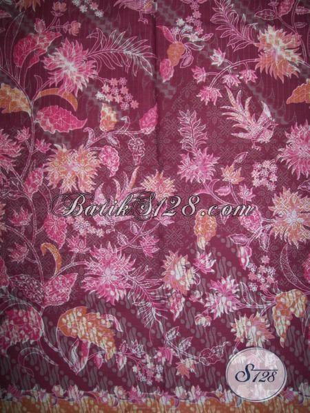 Bahan Busana Batik Trendy Murah Terjangkau, Kain Batik Solo Untuk Dress Wanita Muda Dan Remaja