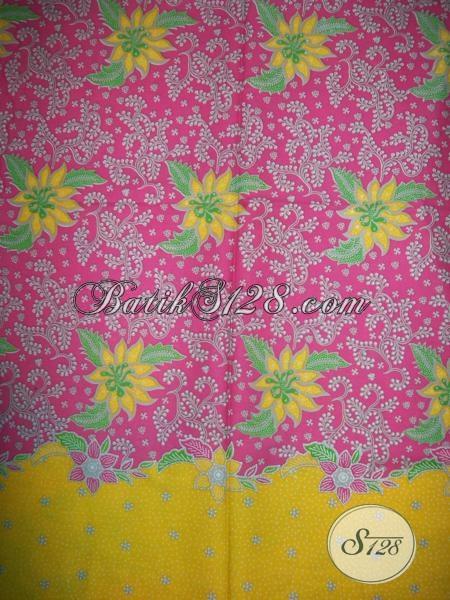 Jual Online Bahan Busana Batik Wanita Berhijab, Batik Kain Panjang Untuk Longdress Trendy Motif Masa Kini