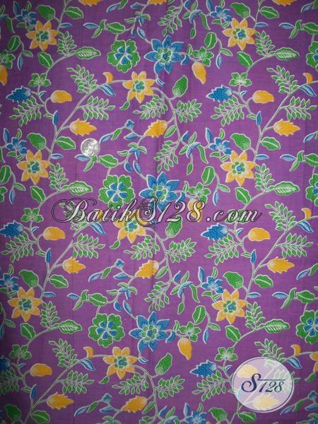 Bahan Busana Batik Solo Motif Terbaru Tren 2015, Kain Batik Mewah Harga Hanya Rp 60.000,-