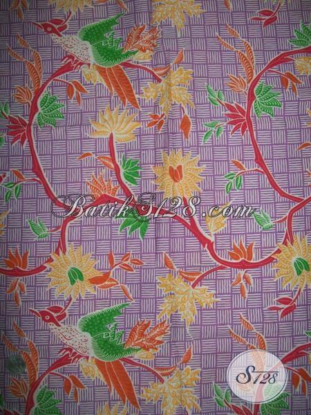 BAtik Warna Ungu Soft Cocok Untuk Blus BAtik Wanita Muda [K1371P]