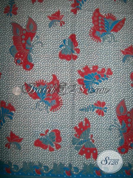 Batik Trendy Motif Kupu-Kupu Asli Buatan Pengerajin Solo, Batik Kain Bahan Busana Dengan Kwalitas Bagus Harga Murah