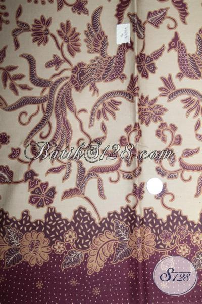Kain Batik Motif Unik Burung Dengan Warna Elegan, Kain Batik Bahan Baju Resmi Dan Seragam Kantor