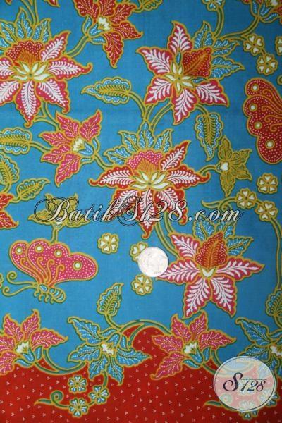 Batik Modern Khas Solo, Kain Batik Bahan Blus Trendy Modern Serta Fashionable [K1413P]