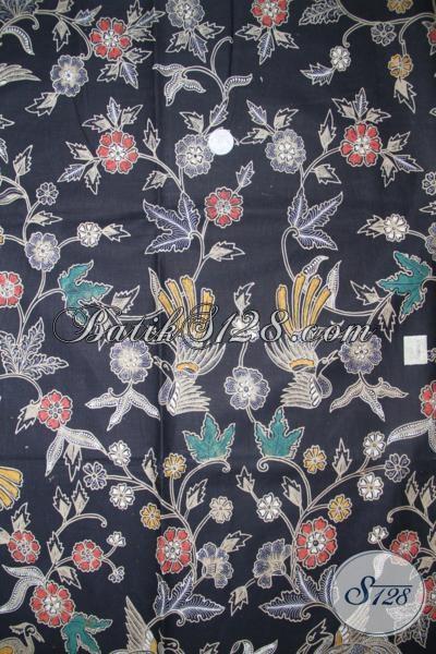 Batik Kain Dasar Hitam Motif Bagus Sangat Cocok Untuk Busana Resmi Dan Kerja Wanita Karir, Batik Solo Asli Kwalitas Terjamin